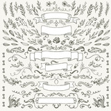 hand-drawing pattern decorative elements - 132212708