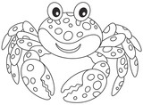 small crab friendly smiling