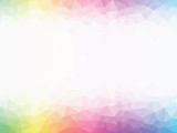 rainbow colored geometric background - 132220135
