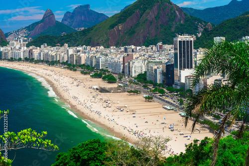 Papiers peints Rio de Janeiro Copacabana beach in Rio de Janeiro, Brazil. Copacabana beach is the most famous beach of Rio de Janeiro, Brazil