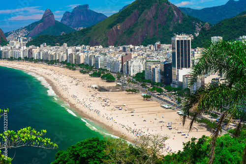 Foto op Canvas Rio de Janeiro Copacabana beach in Rio de Janeiro, Brazil. Copacabana beach is the most famous beach of Rio de Janeiro, Brazil