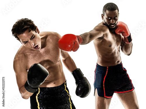Poster kickboxing kickboxer boxing men isolated