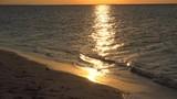 Amber sea sunset at the Cayo Levisa island. Cuba