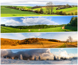 Four season collage from horizontal banners - 132228320