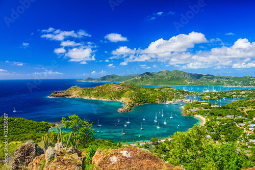 Deurstickers Donkerblauw Shirley Heights Antigua