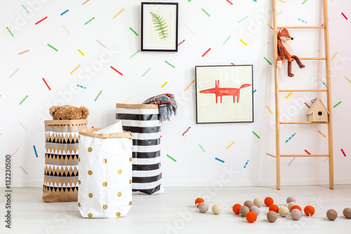Fotografiet Child room in scandinavian style