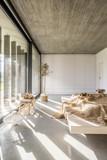 Bedroom with window wall