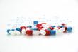 Detaily fotografie capsule, pillole, medicina, farmaco, farmaceutica