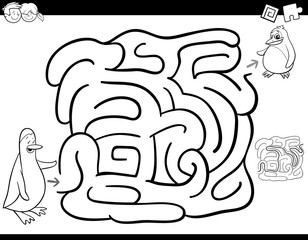 maze game coloring page