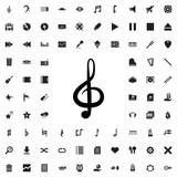 treble clef icon illustration