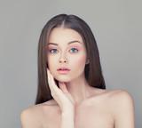 Spa Girl with Healthy Skin. Beautiful Woman Fashion Model. Skinc