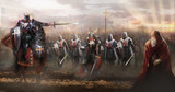 crusaders marching to concord enemy   - 132263920