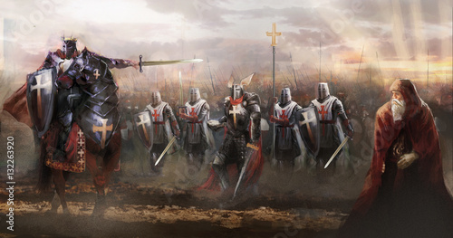 crusaders marching to concord enemy   © vukkostic