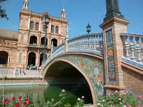 Séville, place d'Espagne (Espagne)