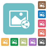 Share image rounded square flat icons