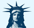 Statue of Liberty portrait. Vector illustration.
