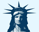 Statue of Liberty portrait. Vector illustration. © Pineapples
