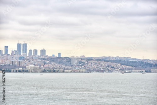 Poster Scenic View of Istanbul City Near the Bosphorus Strait in Turkey