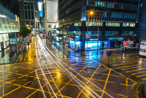 Poster traffic in Hong Kong at night