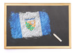 Blackboard with the national flag of Northwest Territories drawn