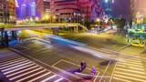 Time Lapse - Traffic View at Night in Taipei, Taiwan