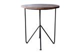 Wooden table steel legs. - 132312753