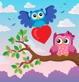 Valentine owls theme image 3