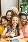 Fototapety Diversity Women Socialize Unity Together Concept