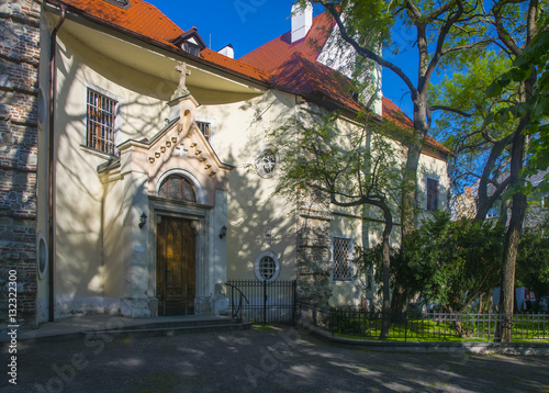 Poster Old gothic church in Bratislava, Slovakia