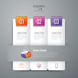 Infographic design vector and business icons with 3 options.