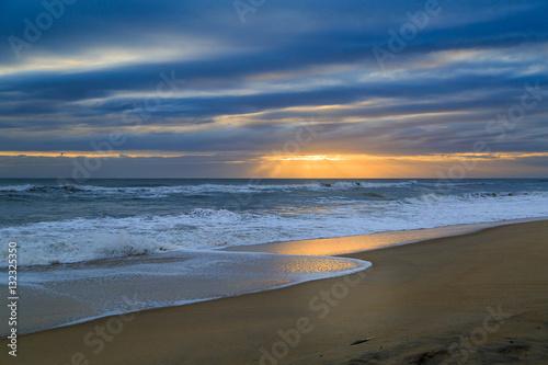 Sunrise at Nag's Head NC beach in winter