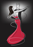 Ballroom Dance Couple.