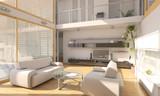 Cozy Loft Apartment Interior Scene