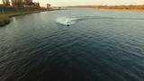 man playing jet ski in water sport pool