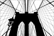 Brooklyn Bridge silhouette vector illustration.