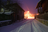 Snowy night in Brashlian village - 132358711