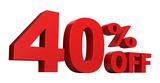 40 Percent Off