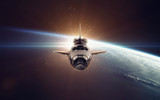 Fototapety Space shuttle taking off on a mission. Elements of this image furnished by NASA