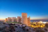 Medieval wall of Alcazaba on the hill, Almeria - 132367979