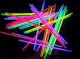 Fototapety Colorful fluorescent light neon on black background