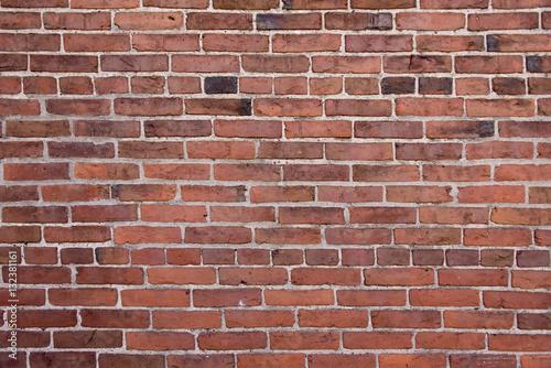 Naklejka Czerwony mur z cegły
