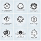 Crests logo,Hotel logo set, luxury logo, Fashion brand identity,Vector logo template