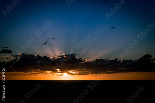 Atlantic Ocean Sunset-25Nov2016 Poster