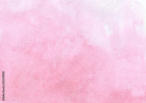 Hand drawn watercolor pastel pink painted texture quality - 132390141