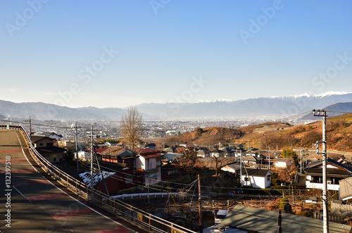 勝沼駅からの景色