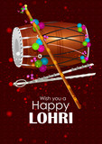 Happy Lohri festival of Punjab India background