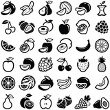 Fototapety Fruit icon collection - vector outline illustration and silhouette