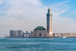 Leinwanddruck Bild - The Hassan II Mosque in Casablanca is the largest mosque in Morocco