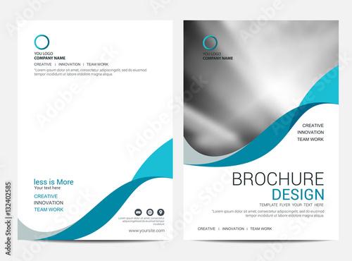 Brochure template flyer background for business design