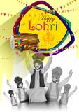 Happy Lohri festival of Punjab India background